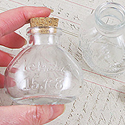 Oval Glass Bottle with Cork*