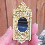 Gold Oval Ornate Mirror