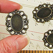 18x13mm Oval Filigree Settings*