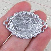 Oval Metal Tea Tray