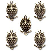 Bronze Wise Owl Metal Charms*