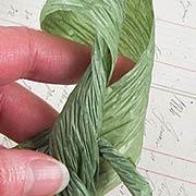 Olive Green Crinkled Paper Ribbon