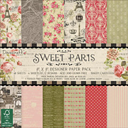 Sweet Paris 8x8 Paper Set