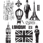 Paris To London Cling Stamp Set