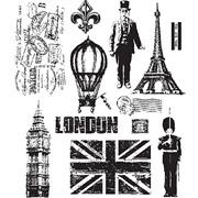 Paris To London Cling Stamp Set