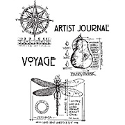 Classics 1 - Pear Dragonfly Voyage Cling Stamp Set