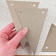 Triangular Chipboard Pennants