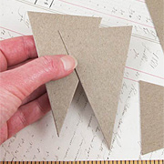 Mini Chipboard Pennants
