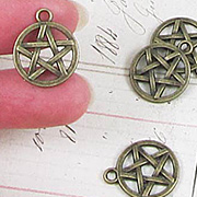 Bronze Pentagram Charms*