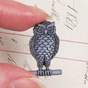 Perched Owl Buttons