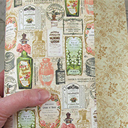 Portrait of a Lady Isabella Perfume Bottles Scrapbook Paper