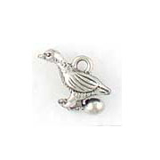 Pewter Goose Charm