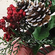 Holly & Pinecone Floral Picks*