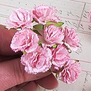 Mulberry Paper Carnations - Pink*