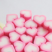 Polymer Clay Cane - Pink Hearts