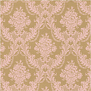 Kraft with Pink Damask Scrapbook Paper