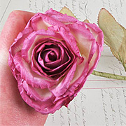 Large Fuchsia Pink Paper Rose