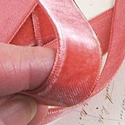 Vintage Silk Velvet Ribbon - Rose Pink