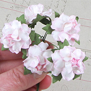 1 Inch Curly Paper Roses - Variegated Pink