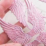 Sheet of Pink Dresden Wings