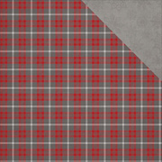 Dear Santa Cozy Up Plaid Scrapbook Paper