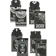 Gothic Lace Black Self-Adhesive Pocket Tags*