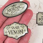 Poison Bottle Sign Tags