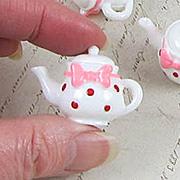 Polka Dot Resin Teapot