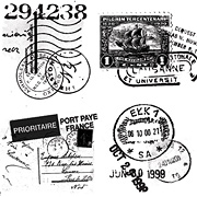 Travel Faux Postage Clear Stickers*