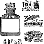 Rare Oddities Cling Stamps #3 - Potions