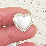 18mm Matte Puffy Heart Beads*