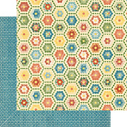 Home Sweet Home Grannys Quilt Scrapbook Paper