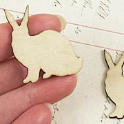 Wood Rabbit Die-Cuts*