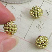 10mm Gold Raspberry Beads
