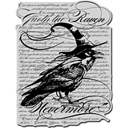 The Raven Background Cling Stamp