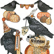 Vintage Ravens & Words Stickers*