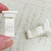 Rectangular White Shelf Brackets - Set of 2