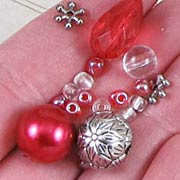 Red & Silver Christmas Bead Mix*