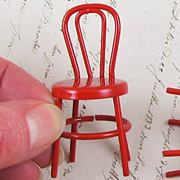 Miniature Red Metal Chair