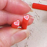 Polymer Clay Red Heart Cane