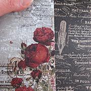 Stationers Desk Red Ink Scrapbook Paper