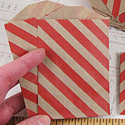 Striped Kraft Envelopes - Red