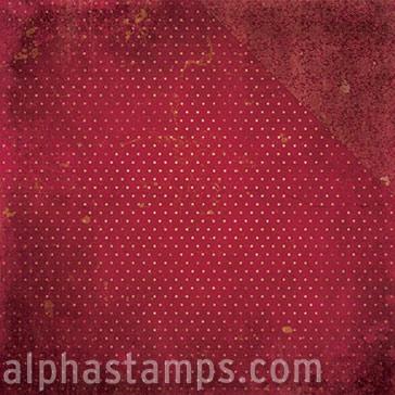 Double Dot Vintage Red Wine Scrapbook Paper Alpha Stamps