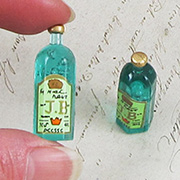 Green Resin Bottles - Set of 2