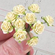 Tiny Paper Roses - Cream