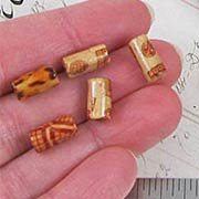 5x11mm Printed Wooden Tube Beads