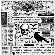 Tim Holtz Remnant Rub-Ons - Halloween