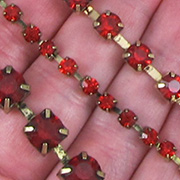 Relics & Artifacts Rhinestone Chains - Ruby