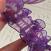 Sheer Pull Flowers Ribbon