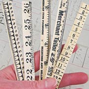 Tim Holtz Wooden Ruler Pieces